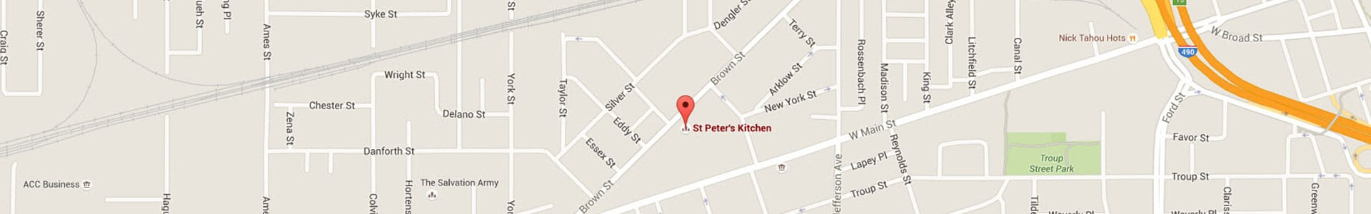Footer Map St. Peters Kitchen Rochester NY